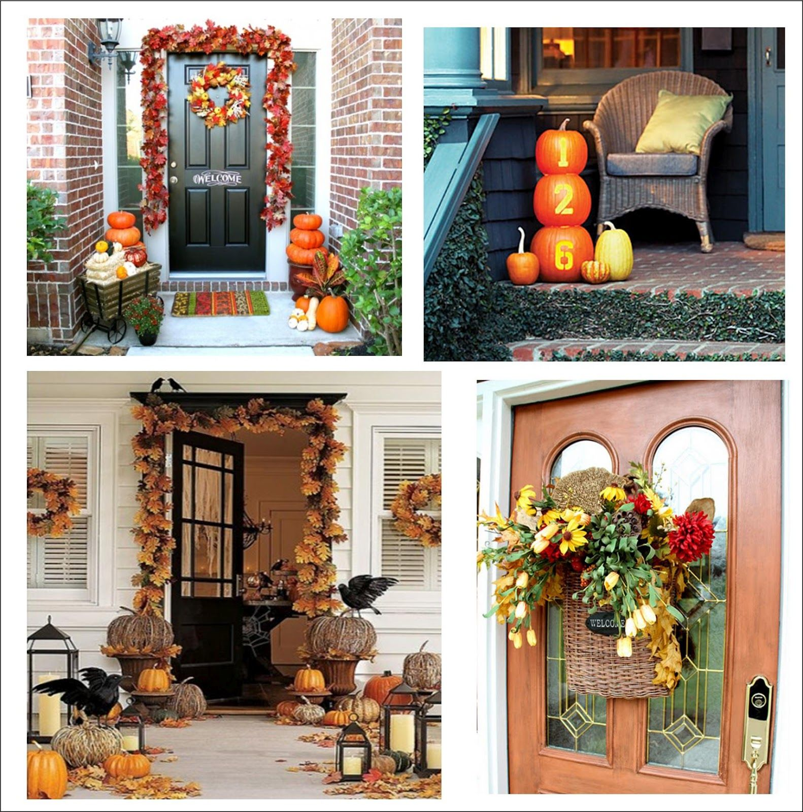Halloween window decor ideas  itus written on the wall  fall porch decorating ideas  for