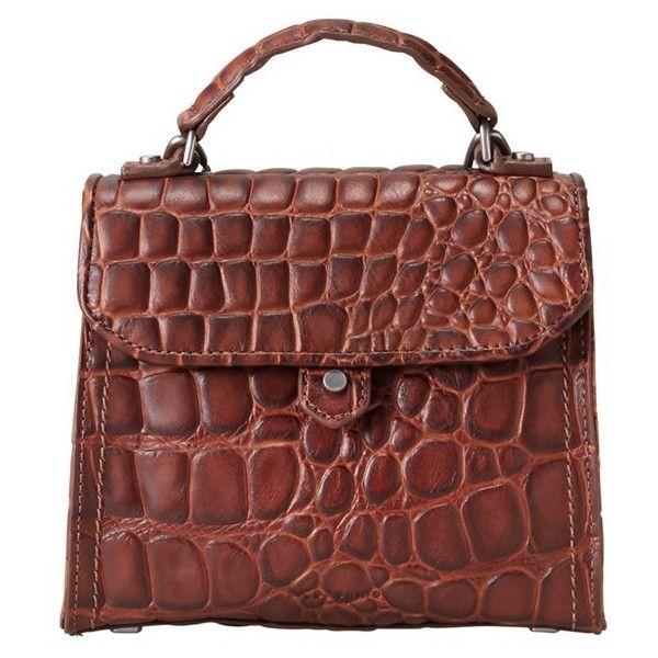 Liebeskind Berlin Glendale Croco Embossed Leather Mini Top-Handle Bag...  ( 228 c4dea4a6e7c7d