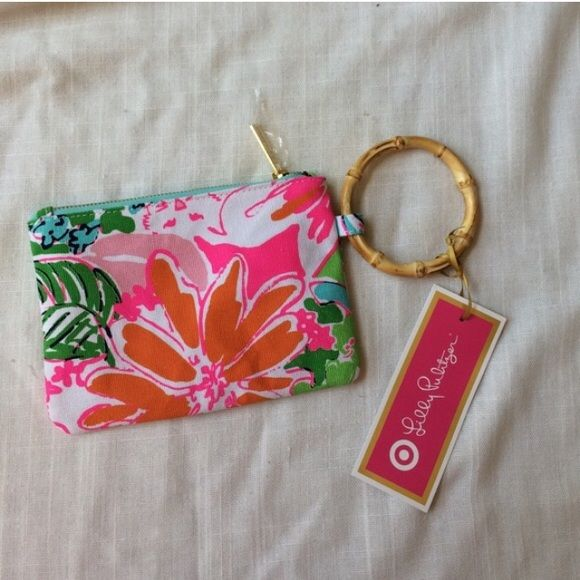 NWT Lilly Pulitzer Bamboo Wristlet Brand-new already priced at my lowest. Lilly Pulitzer for Target Bags Clutches & Wristlets