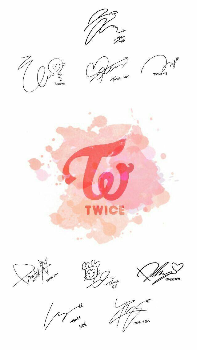 TWICE Wallpapers sign TT kpop Twice Pinterest Kpop