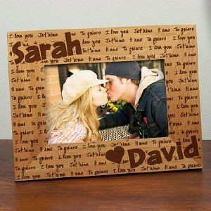 I Love You Personalized Romantic Gift Wood Frame Valentines Day