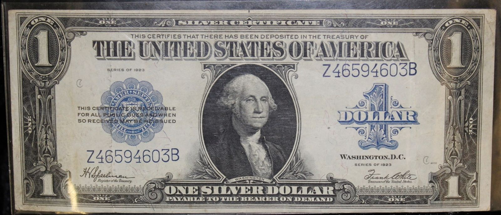 1923 Fr 237 Extra Fine United States One Dollar Silver Certificate