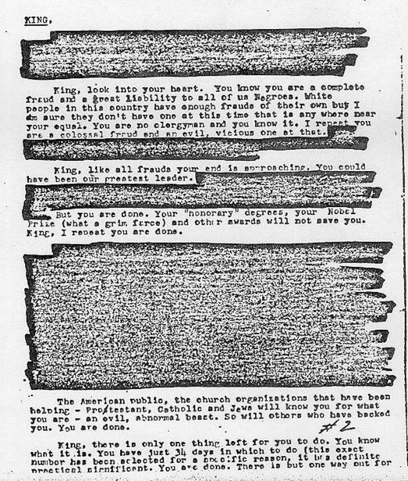 Remember That Time The FBI Told Martin Luther King Jr To Kill - invitation letters