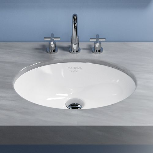 Canova Royal Under Counter Basin Oval Underbowls Basins Bathrooms BAs