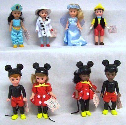 Madame Alexander Dolls McDonalds Toy Lot of 3 2004 Disney Cruella Pinnochio