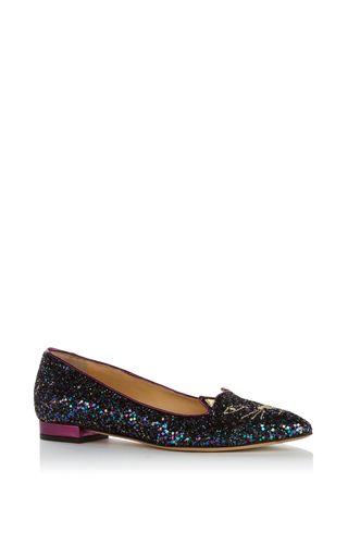 Charlotte Olympia Glitter Ballet Flats