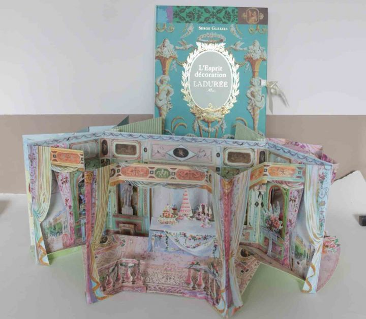 Marie Arden Pink Living Pretty Pop Up Book From Laduree Pop Up Book Paper Doll House Laduree