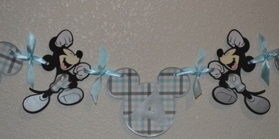It's a Boy Mickey Banner by CCreativeMind on Etsy, $18.00