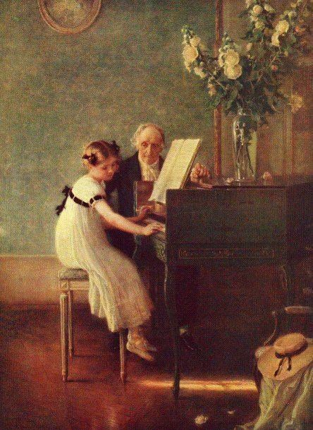"The First Piano Lesson"" by Jules-Alexis Muenier 