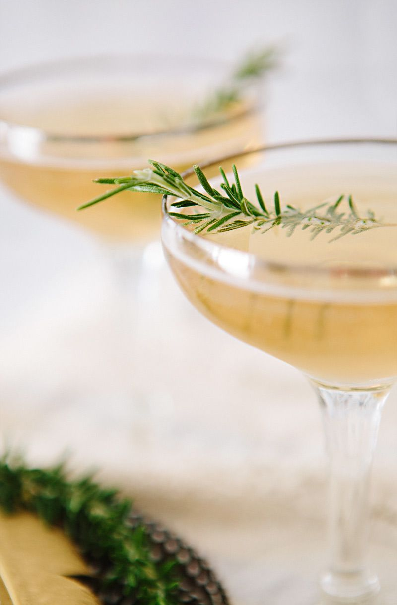 fig & rosemary cocktail