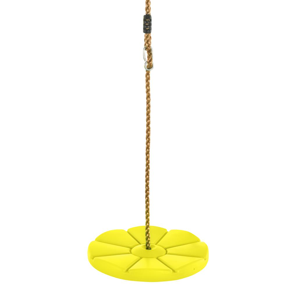Ksh Brand S Cool Disc Swing With Adjustable Rope Fully Assembled Yellow Cool Stuff Swing Cool Swings
