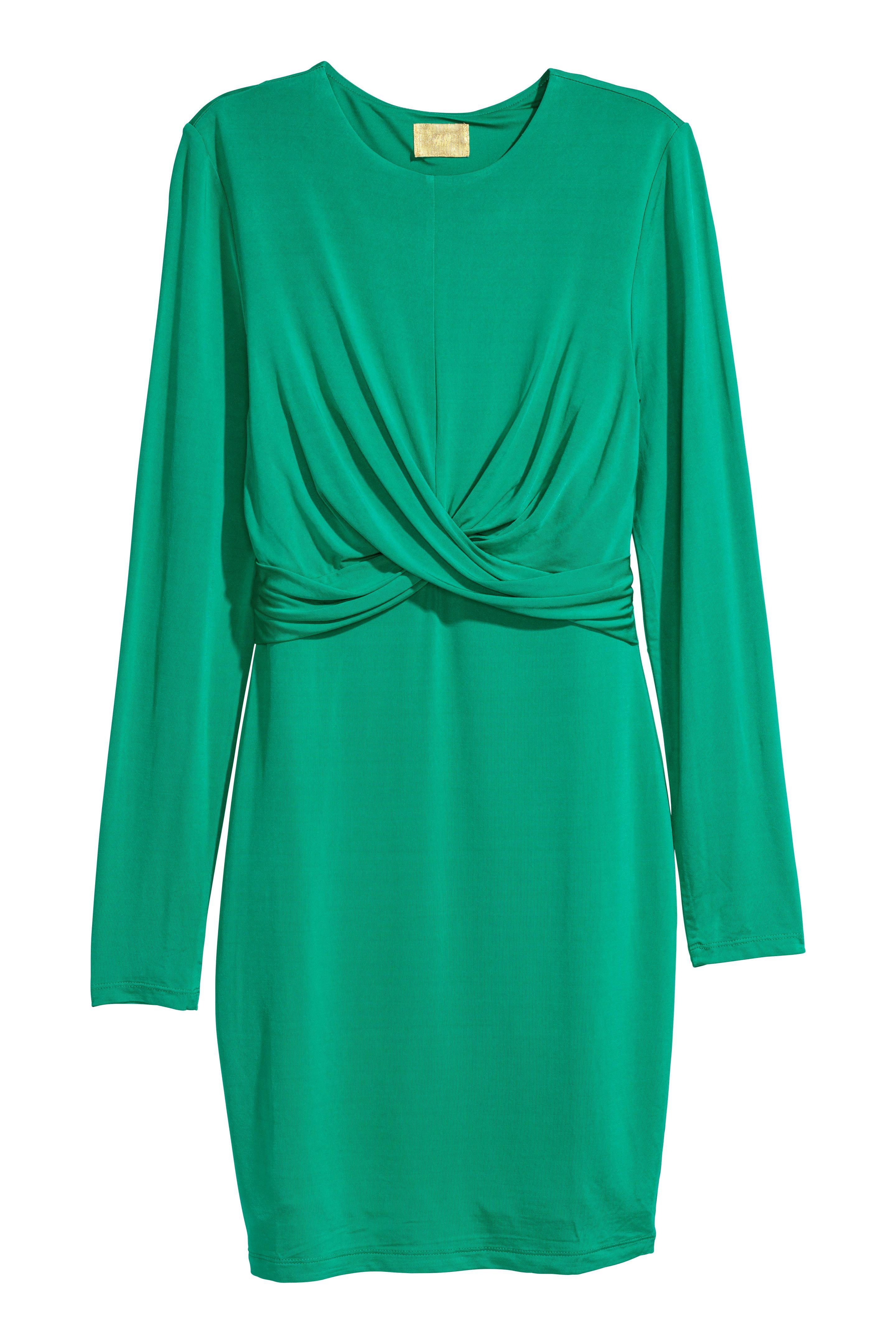 4018d47d6261 Draped jersey dress | NEWEST | Green dress, Draped dress, Dresses