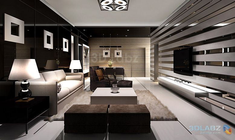 Enjoyable 3D Rendeing Interior View Living Room Architecture Interiors Largest Home Design Picture Inspirations Pitcheantrous