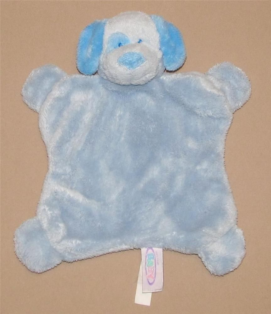 Mary Meyer Blue Puppy Dog Security Blanket Lovey Square Flat Plush ...