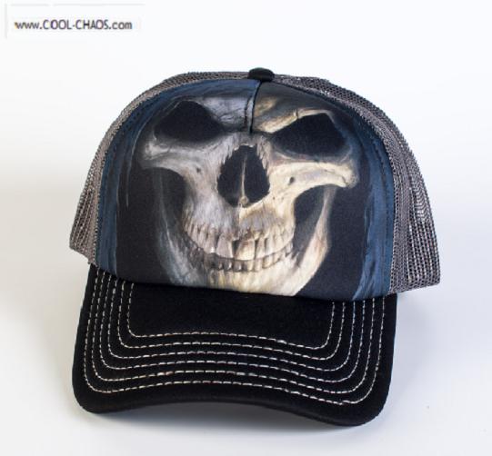 a0c4515027b99 Skull Baseball Cap   Death Skull Trucker Hat