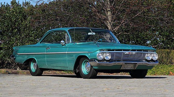 1961 Chevrolet Bel Air Bubble Top 409 Ci V 8 Engine T10 4