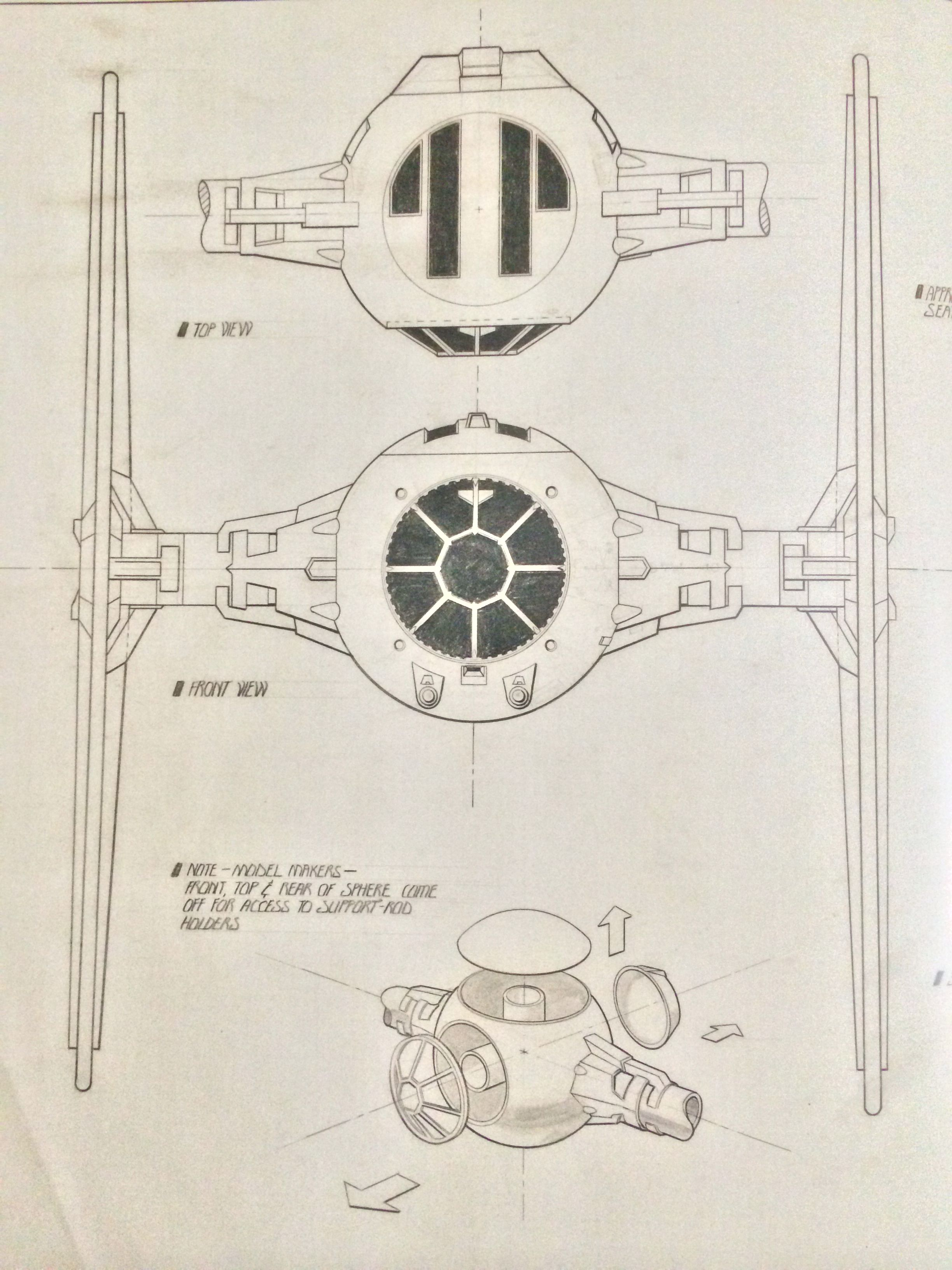 Blueprints For A Modern Four Bedroom Home: TIE Fighter Blueprint