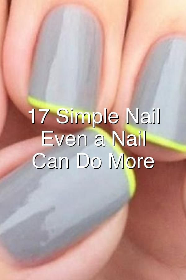 Gray manicure with a touch of a green French tip nailperfection beauty