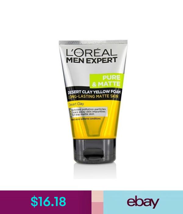L Oreal Men Expert Pure Matte Desert Clay Yellow Foam 100ml Cleansers Loreal Cleanser Mens Skin Care
