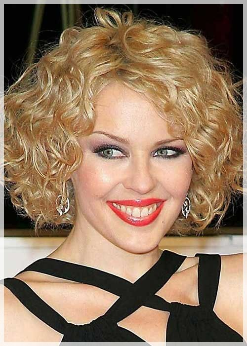 cute curly blonde short permed hair   Curly Hairstyles For Short ...