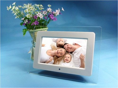 Vcan1319 Acrylic Frame Material 10 Inch Digital Photo Frame Video