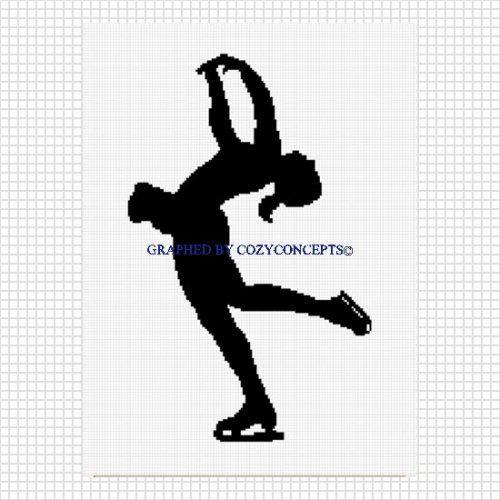 Ice skater silhouette crochet afghan pattern graphs .pdf