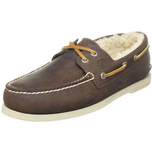 Sperry Top-Sider Men's A/O 2-Eye Winter Boat Shoe 10 Brown