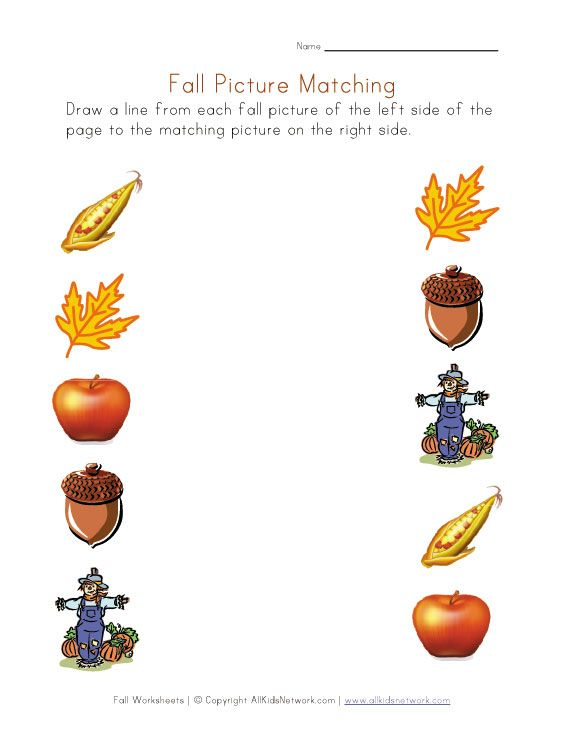 Number Names Worksheets fall worksheets : 1000+ images about Preschool - Fall on Pinterest