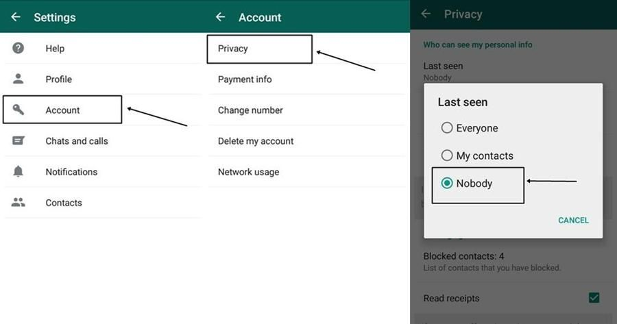 How To Hide Whatsapp Online Status Last Seen Profile