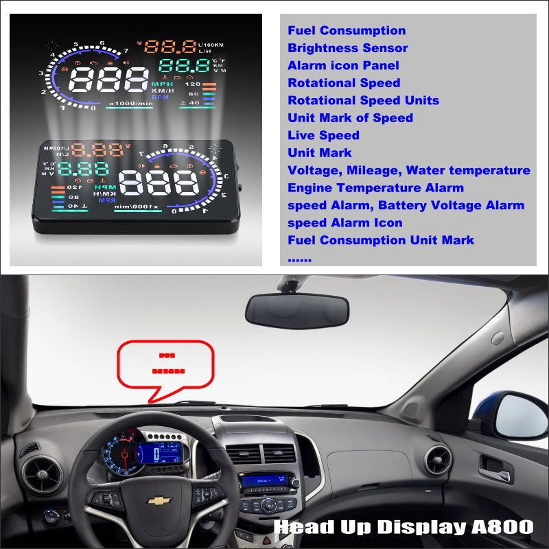 Car Computer Screen Display Projector Refkecting Windshield For