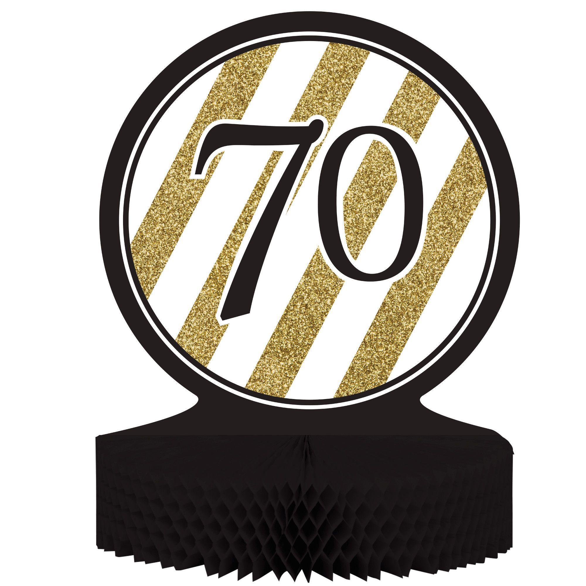Black Gold 70th Birthday Honeycomb Centerpiececase Of 6 Moms