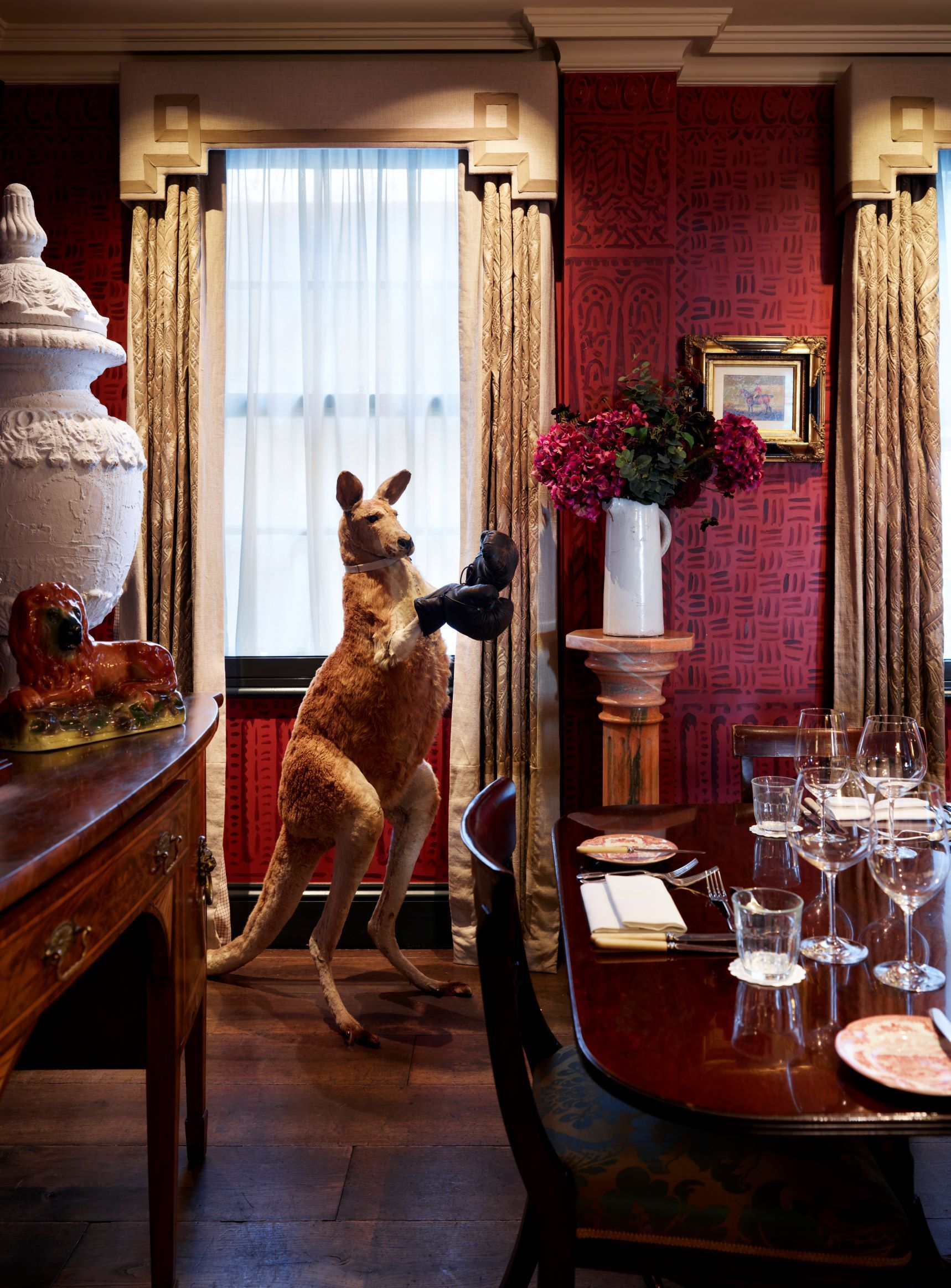 Boxing Kangaroo The Dining Room At The Zetter Townhouse