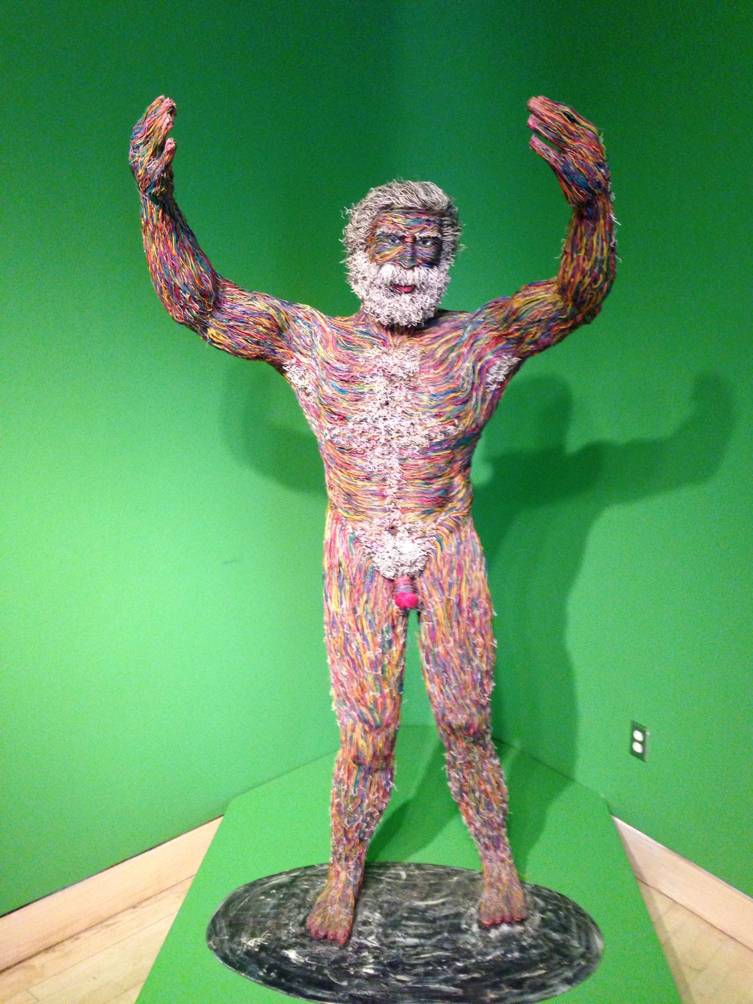 Man Made From Recycled Phone Wire Museum Of Visionary Art Pcb Sculptures Artist Upcycles Old Circuit Boards Into Baltimore