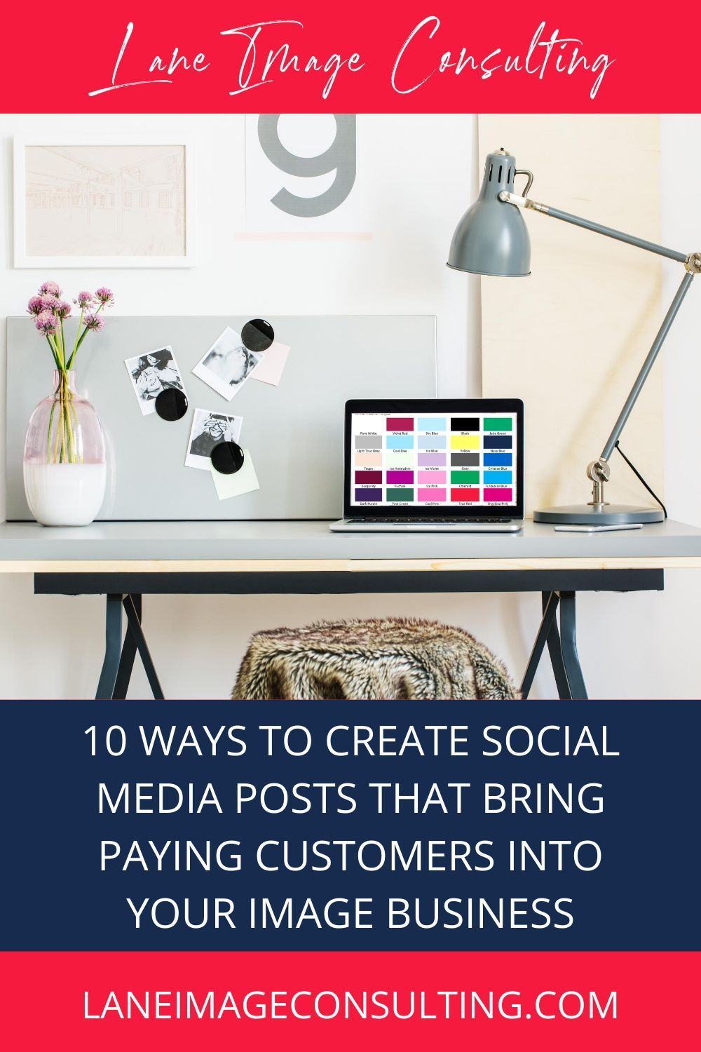 Do you struggle to come up with ideas for social media posts to promote your image or styling business? Check out this video for my 10 top tips to create social media posts that convert leads into paying customers. #socialmediaideas #imageconsultant #imageconsultanttipsbusiness