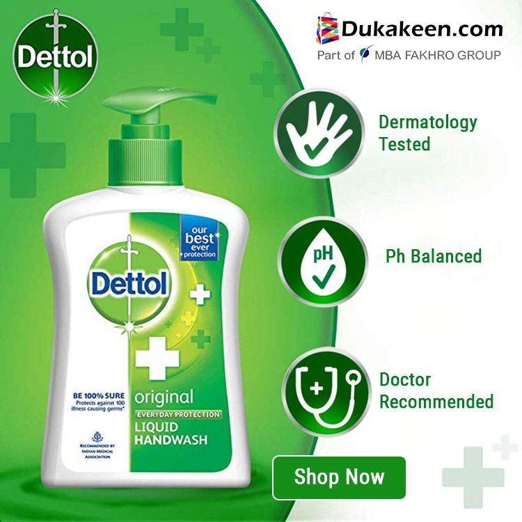 Dettol Original Anti Bacterial Liquid Hand Wash 400ml In 2020
