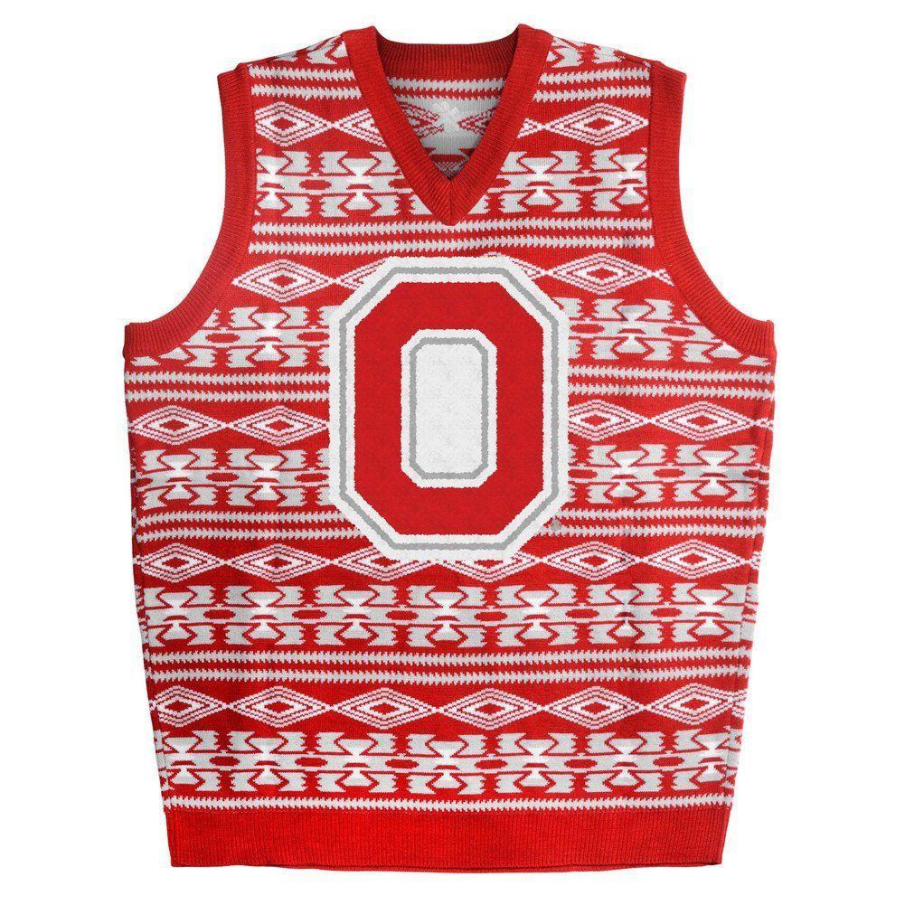 Ohio State Buckeyes Ugly Christmas Sweater Vest | Ohio State Buckeye ...