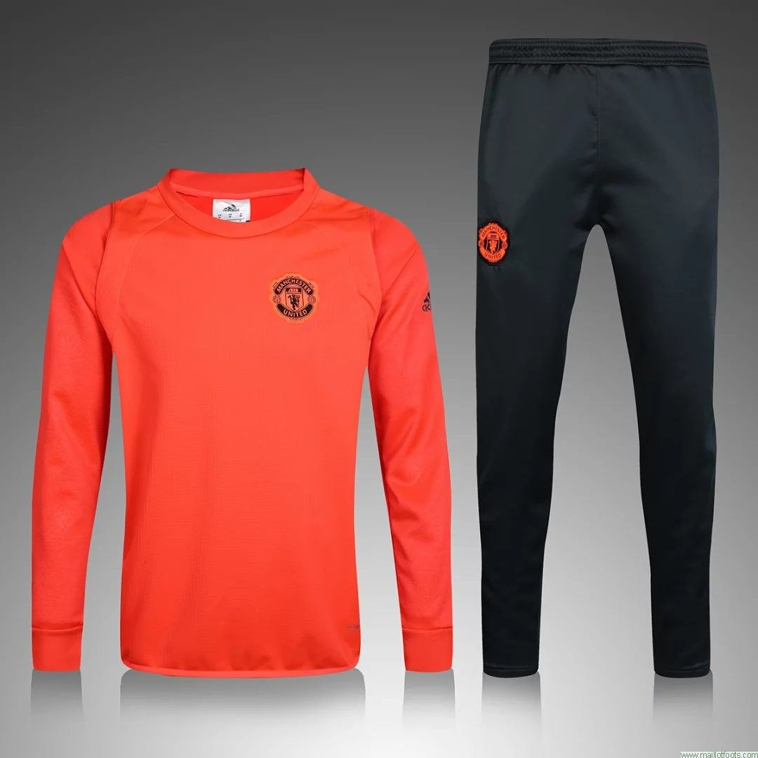 surv tement de manchester united 2016 2017 orange football shirts pinterest. Black Bedroom Furniture Sets. Home Design Ideas
