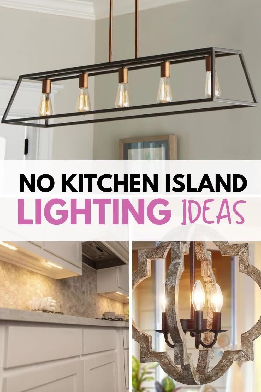 7 No Island Kitchen Lighting Ideas Diannedecor Com Video Video In 2021 Kitchen Island Lighting Kitchen Lighting Kitchen Without Island Kitchen lighting ideas no island