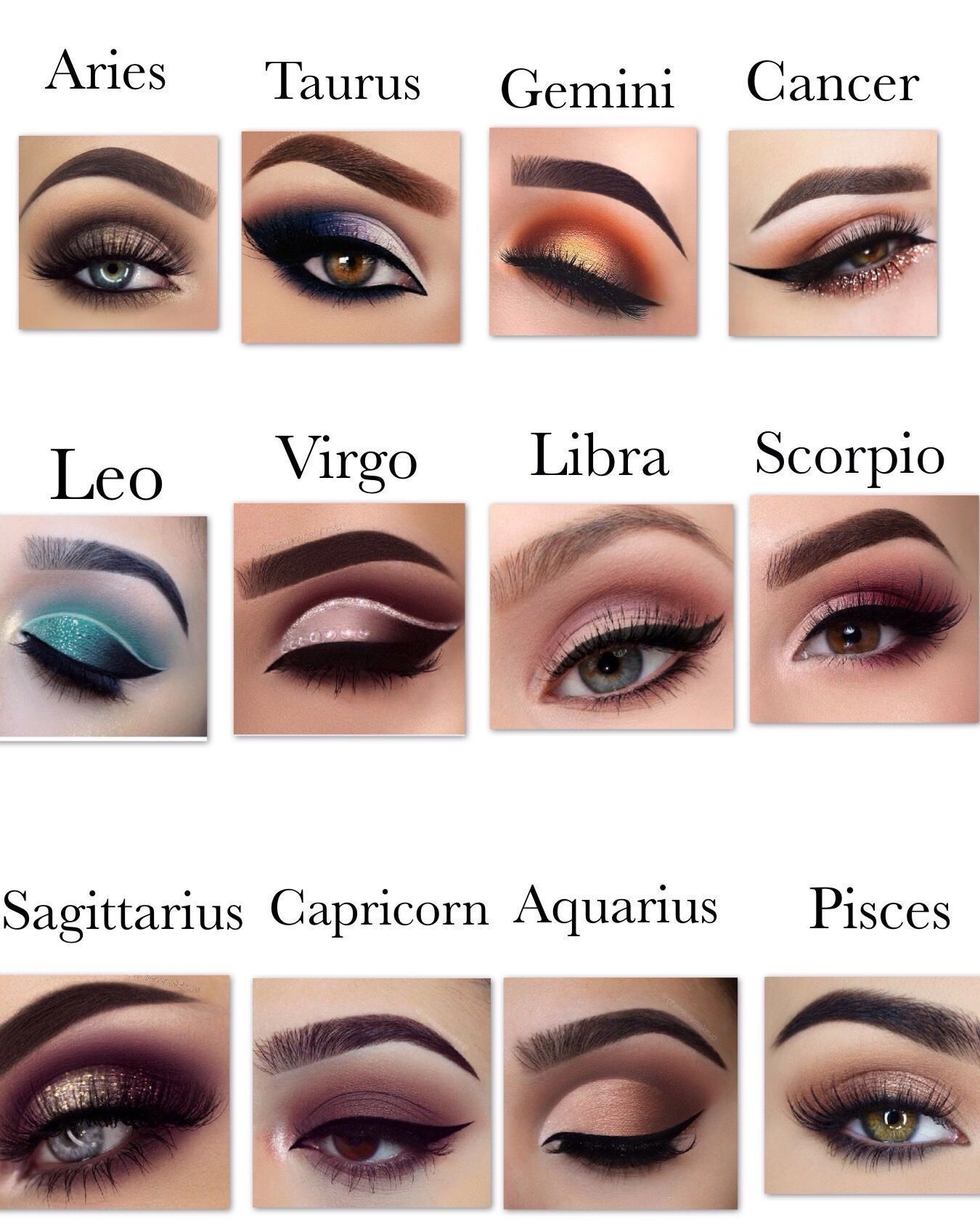 Zodiac Eye Makeup #zodiacsignsoutfits Zodiac Eye Makeup - Sharlene Lowery