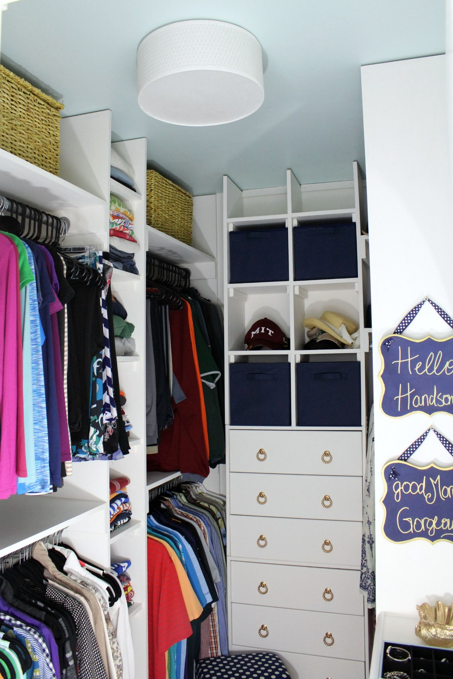 Master Closet Makeover Orc The Reveal Small Master Closet Closet Makeover Bedroom Organization Closet