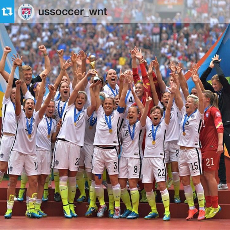 World Cup Champions Congratulations To The Uswnt Way To Represent The Usa Repost From Ussoccer Soccer Usa Soccer Team Usa Soccer Women