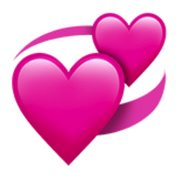 Two Or More Pink Hearts Revolving Around In A Circle A Heart Is A Symbol Of Love People Have Long Associated The Emotion Of Love Heart Emoji Emoji Love Emoji