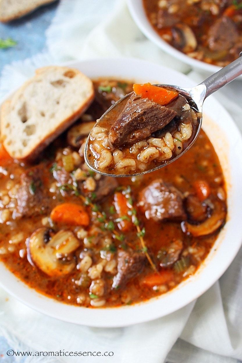 Instant Pot Beef Barley Soup Recipe Recipe Beef Barley Soup Recipes Barley Soup Beef Barley Soup
