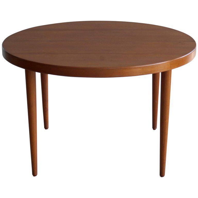 Beautiful Round Dining Table In Teak Designed By Kai Kristiansen