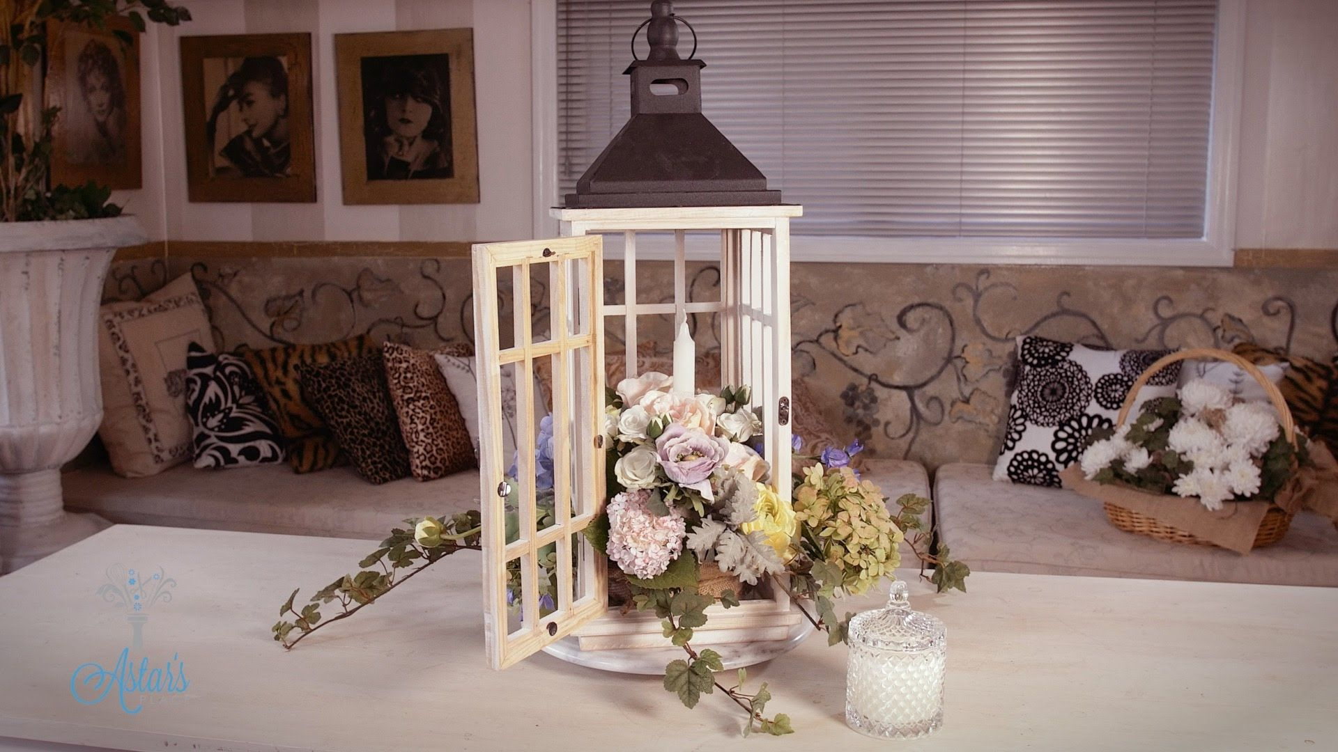 Wedding decorations hd  Shabby Chic Lantern Floristry Arrangement  Cutting flowers