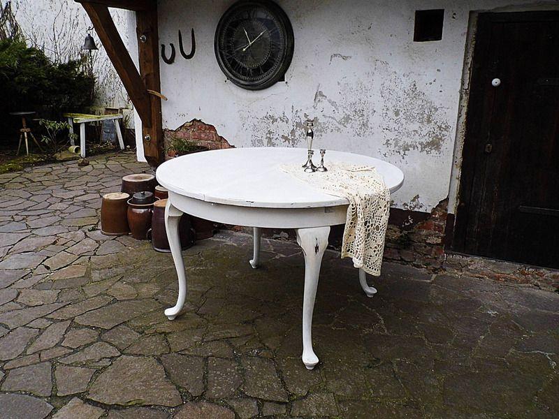 Runder wohnzimmertisch ~ Großer runder esstiscch vintage tisch ausziehbara von gerne wieder