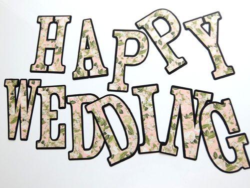 花柄 「HAPPY WEDDING」 ガーランド - 「Nico's Secret」  あなたの結婚式をオシャレにする、ウエディング・アイテムが70点以上!