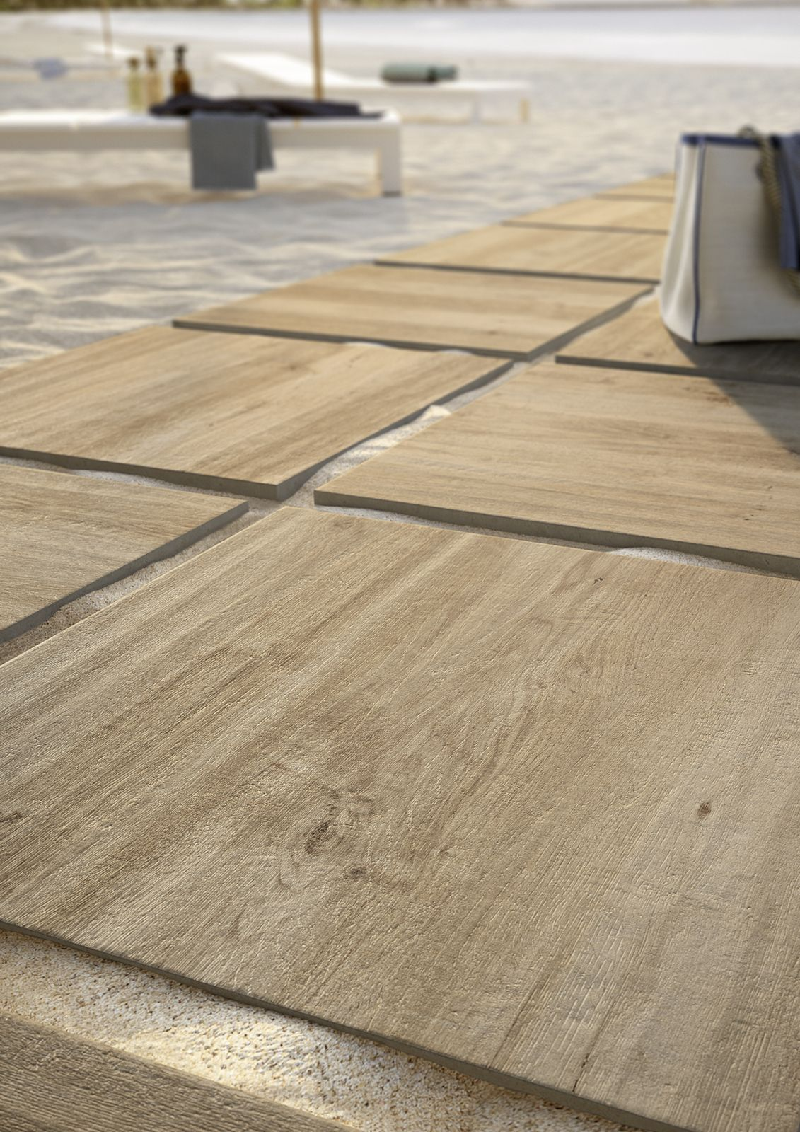 Treverkhome20 - outdoor wood effect thick tiles #Marazzi ...