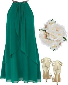 Vintage Emerald Green Long Bridesmaids Dresses