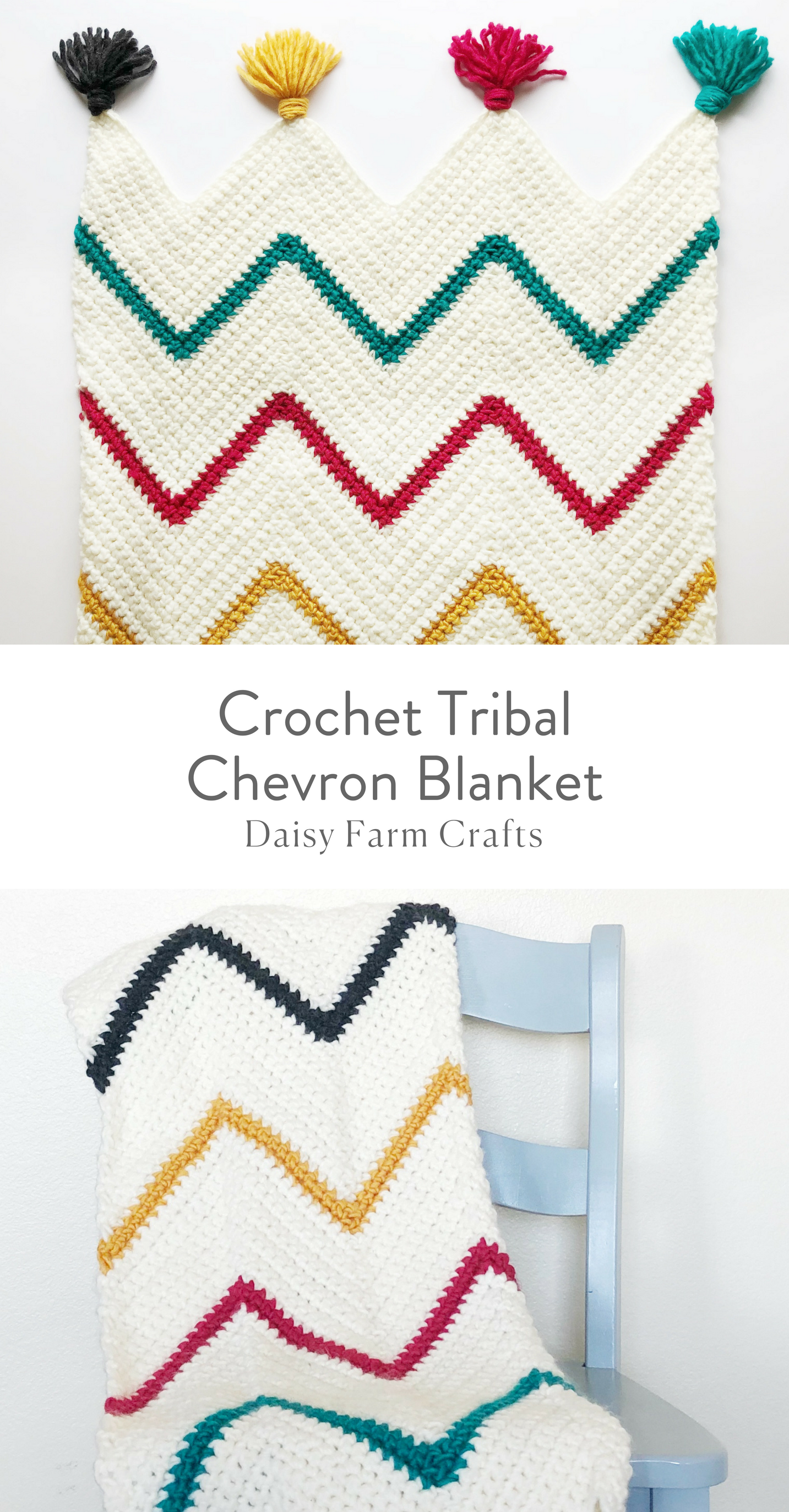 Free Pattern - Crochet Tribal Chevron Blanket | one stitch at a time ...